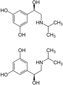 Struktur von Orciprenalin