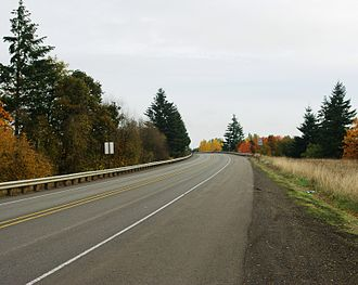 Oregon Route 6 - The highway near Banks looking east towards Portland