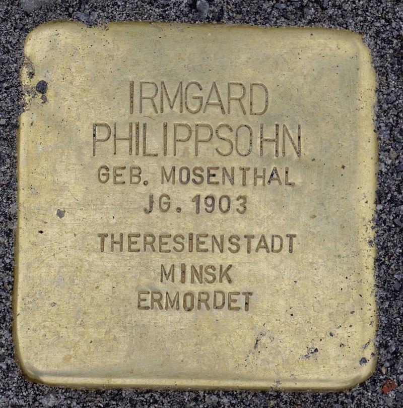 Osten (Oste) Stolperstein Philippsohn, Irmgard