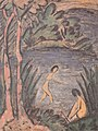 Otto Mueller - Sitzende und Badende mit zwei Bäumen - ca1918.jpeg