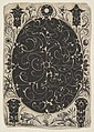 Oval Case Decorated with Schweifwerk in Two Variants, Surrounded by Smaller Motifs, Flowers and Two Birds Below MET DP826392.jpg