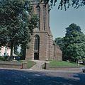 Overzicht kerktoren, westgevel, toreningang, eerste geleding met twee uitgebouwde torentjes - Amerongen - 20370465 - RCE.jpg