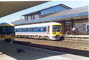 Networker (train) - A 166 in Network SouthEast livery