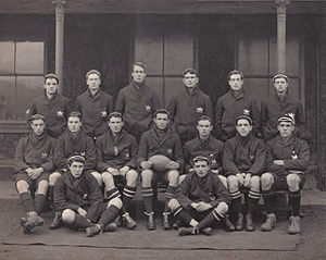 Frank Tarr - 1907 University of Oxford Rugby XV. Frank Tarr is standing on the far right.