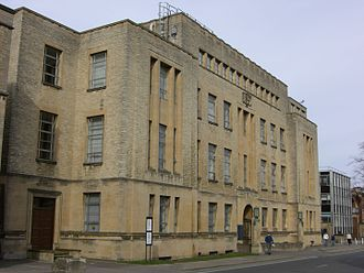 South Parks Road - The Inorganic Chemistry Laboratory building on the north side of South Parks Road.