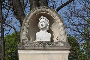James Pradier - Bust of Pradier by Eugène-Louis Lequesne, from his tombstone