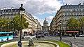 P1090024 France, Paris, le Panthéon et la rue Soufflot vus de la place Edmond-Rostand (5629766650).jpg