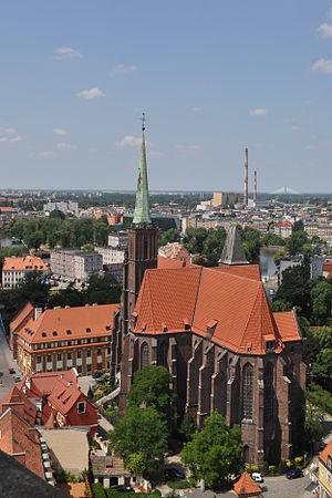 Collegiate Church of the Holy Cross and St. Bartholomew, Wrocław - Image: PL Wrocław Kolegiata Świętego Krzyża i św. Bartłomieja Kroton 001