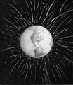 PSM V54 D525 Meteorite bombardment of earth.png