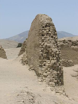 Pañamarca - Pañamarca archaeological site – wall