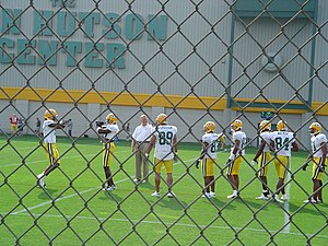 2004 Green Bay Packers season - Image: Packers wide receivers training camp 2004