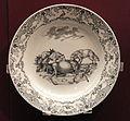 Pair of dishes from a Jagd service, dish 1, c. 1740, Du Paquier factory, hard-paste porcelain, Schwarzlot overglaze black enamel, gilding - Gardiner Museum, Toronto - DSC00993.JPG