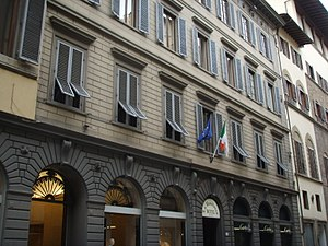 The Scorpioni - Exterior of the former Gran Caffé Doney in Florence, where the Scorpioni would meet