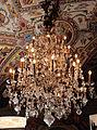 Palazzo colonna, appartamento della principessa isabelle, sala del tempesta, lampadario in vetro di boemia.JPG