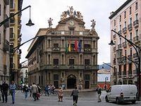 Pamplona townhall façade