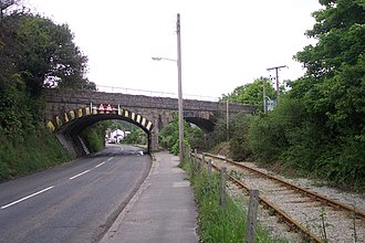 Par railway station - Par Viaduct was built to carry the Cornwall Railway over the Cornwall Minerals Railway route to Par harbour, a short distance south of Par station