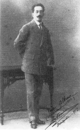 "Foto co texto: ""Para Albina (25-Noviembre-1912) Antonio""."