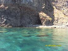 Costa incontaminata dell'isola di Pantelleria.