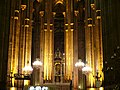 Paris - Saint-Eustache - choir and altar seen from nave - at night.JPG