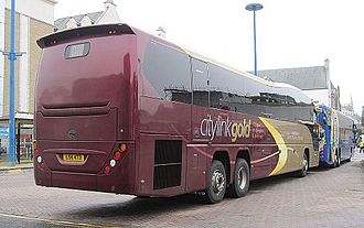 Plaxton Elite - A Citylink Gold Plaxton Elite in Inverness in October 2013