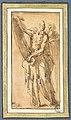 Parmigianino - Un homme déroulant un livre, se tournant vers un autre homme, INV 6375, Recto.jpg