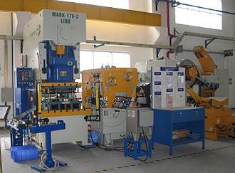 Punch press - Part revolution clutch system on modern gap frame press