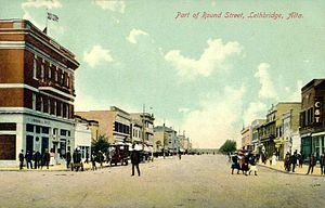 Lethbridge - Round Street in 1911