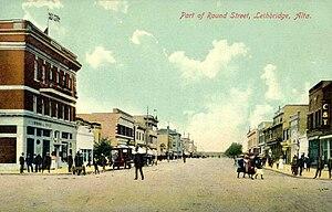 Lethbridge - Round Street in 1911