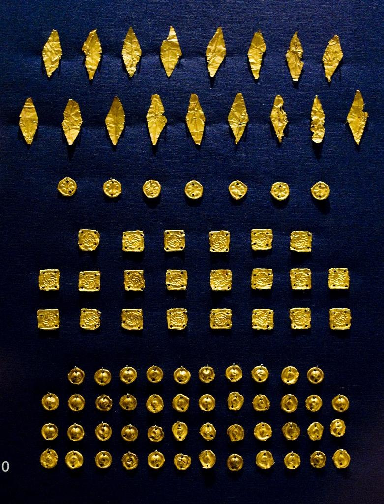 Parthian gold funerary objects by Nickmard Khoey