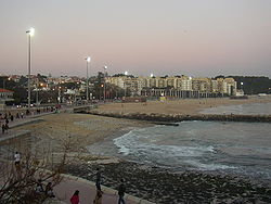 A twilight image of the maritime coast of Oeiras