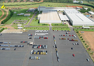 Goiás - The Mitsubishi plant in Catalão.