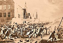 Paul-Jacob Laminit (inc.) Jahann Voeltz (dis.) Combat dans les rues de Gand, novémbre 1789.JPG