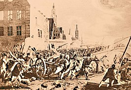 Veldslag in de straten van Gent, november 1789.