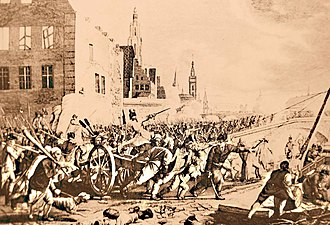 Belgium in the long nineteenth century - Brabant revolutionaries mass in the town of Ghent in November 1789.