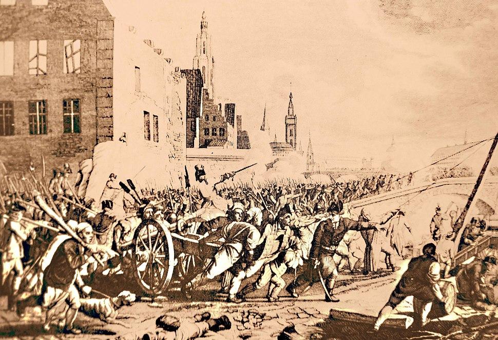 Paul-Jacob Laminit (inc.) Jahann Voeltz (dis.) Combat dans les rues de Gand, nov%C3%A9mbre 1789