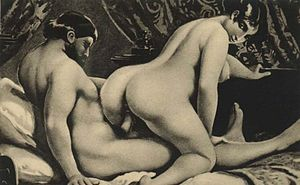 Woman on top - Édouard-Henri Avril - Les Sonnetts Luxurieux (1892) - depiction of reverse cowgirl position