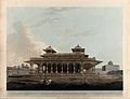Pavilion in the fort of Allahabad, Uttar Pradesh. Coloured a Wellcome V0050467.jpg