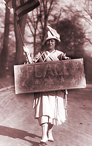 Woman's Peace Party - A World War I-era female peace protester