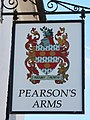 Pearson's Arms pub sign, Whitstable, Kent.jpg
