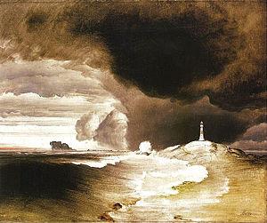Peder Balke - Image: Peder Balke Fyr på den norske kyst