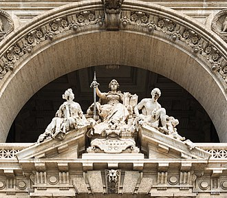 Lady Justice - Image: Pediment courthouse, Rome, Italy