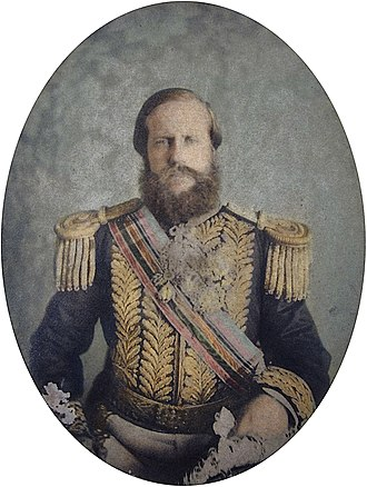 Pedro II of Brazil in the Paraguayan War - Emperor Pedro II wearing court dress at age 39, 1865
