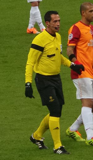 Pedro Proença - Proença refereeing a Champions League match in 2013.
