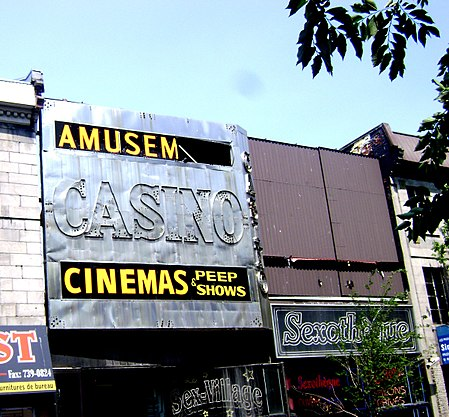 Adult movie theatres and peep shows on Montreal's St. Laurent Street Peep-show-montreal-st-laurent.jpg