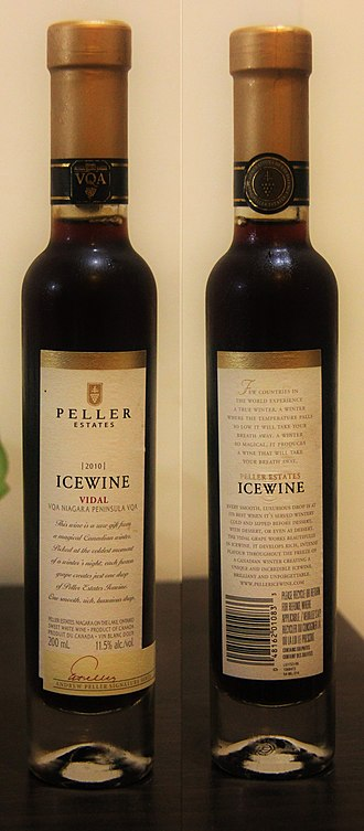 Ice wine - Vidal ice wine by Peller Estates (Canada)