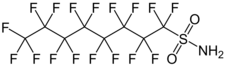Structure du perfluorooctanesulfonamide
