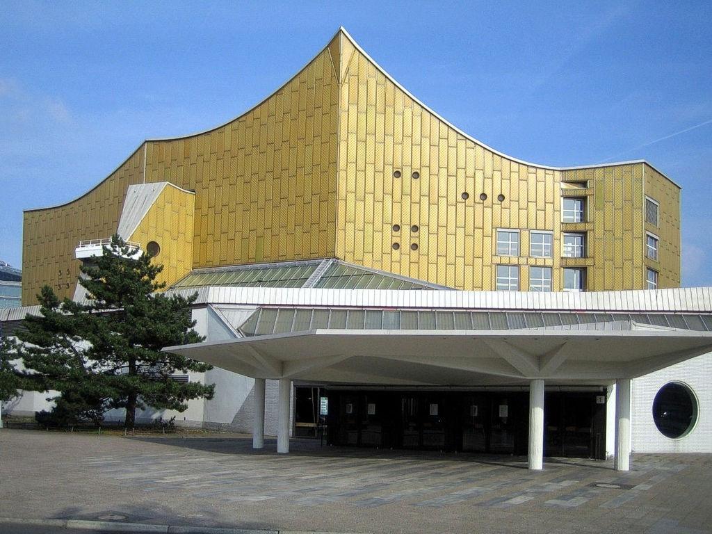 La grande salle de la Philarmonie de Berlin dans le quartier du Tiergarten - Photo de Manfred Brückels