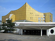 The Berliner Philharmonie is home to the renowned Berlin Philharmonic