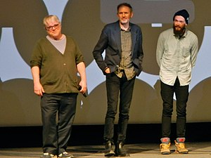 Anton Corbijn - Philip Seymour Hoffman, Anton Corbijn, and Grigoriy Dobrygin at the premiere of A Most Wanted Man at the 2014 Sundance Film Festival