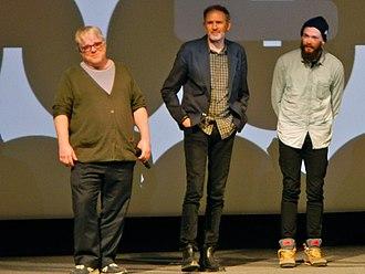 Anton Corbijn - Philip Seymour Hoffman, Anton Corbijn, and Grigoriy Dobrygin at the premiere of A Most Wanted Man at the 2014 Sundance Film Festival